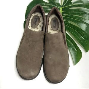 Born Phoebe Taupe Slip On Loafers Walking Shoes